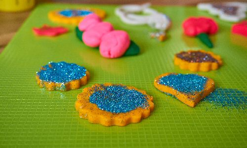 Glittery play dough