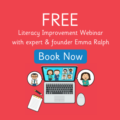 FREE Literacy Improvement Webinar Pop Up Images
